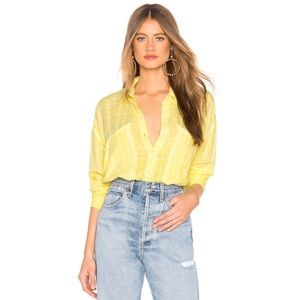 Free People Loveland Woven Top in Yellow
